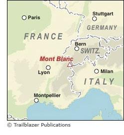 Mont Blanc France Map.Trailblazer Guide Books Tour Du Mont Blanc