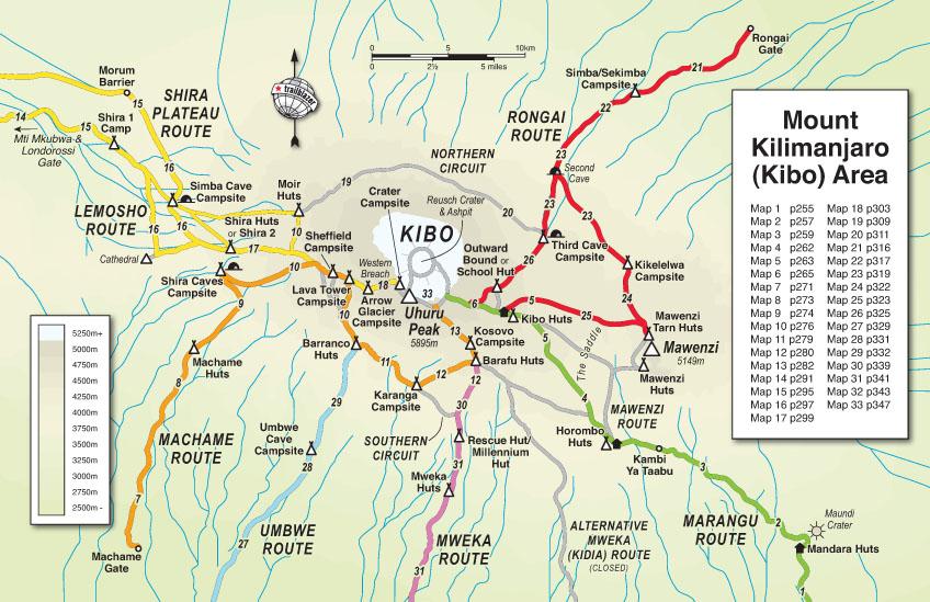 Trailblazer Guide Books Kilimanjaro The Trekking Guide To